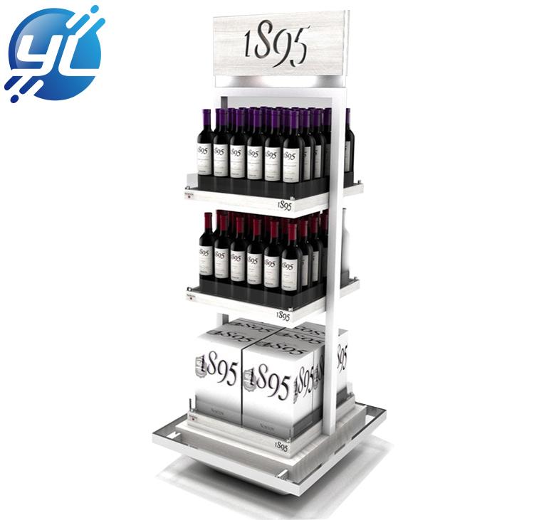 Manufacturer direct sale wooden wine display rack