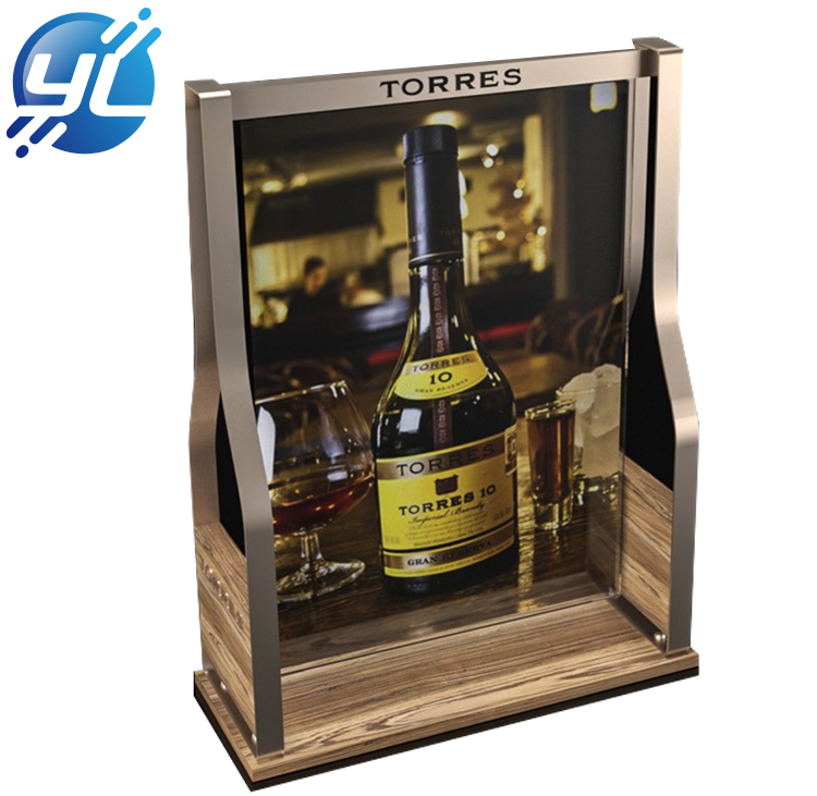 Home Decoration Wooden Table  Wine Bottle Display Rack