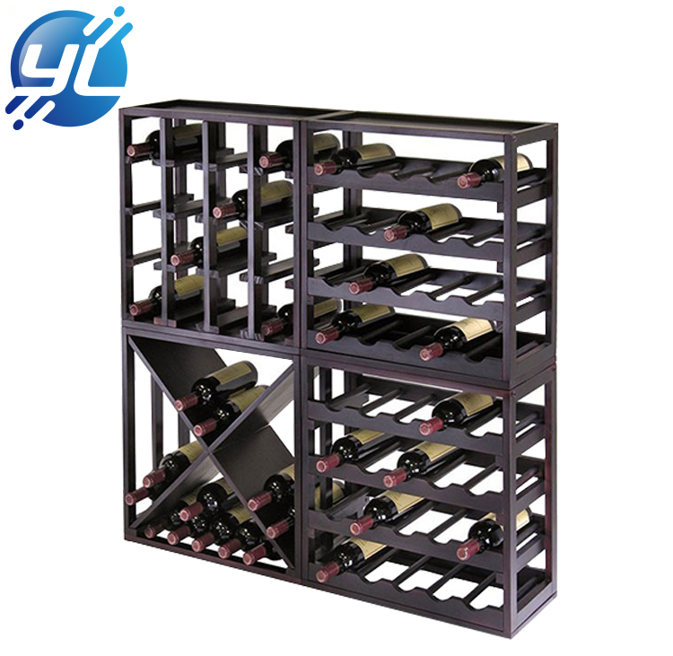 Manufacturers custom beautiful wooden wine shop display rack