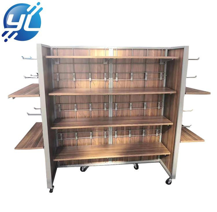 Design advertising display shelves supermarket shopping shelf rack