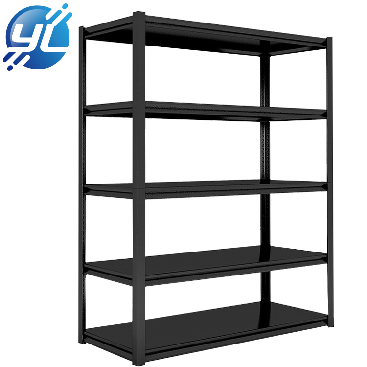 Hot Sale Boltless Shelves Black Metal Rack Shelf 3 4 5 Layer Steel Shelving Black