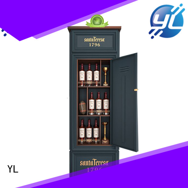 customized wine cabinet very useful for supermarket